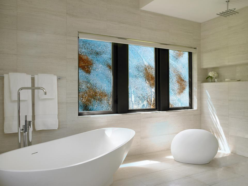 architectural design cyprus - fused glass bathroom windows - chakra gallery - island designs