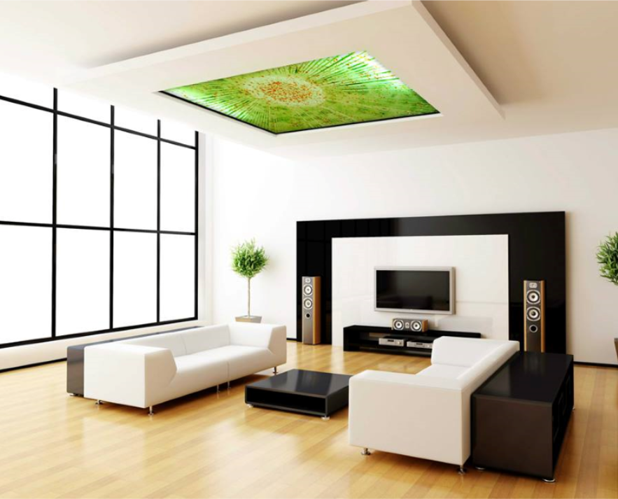 architectural design cyprus - fused glass ceiling feature - chakra gallery - island designs