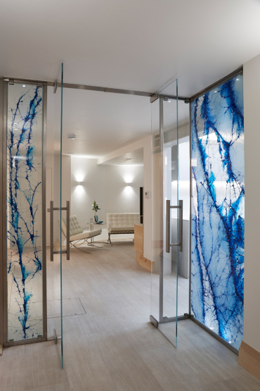 architectural design cyprus - laminated glass door - chakra gallery - island designs