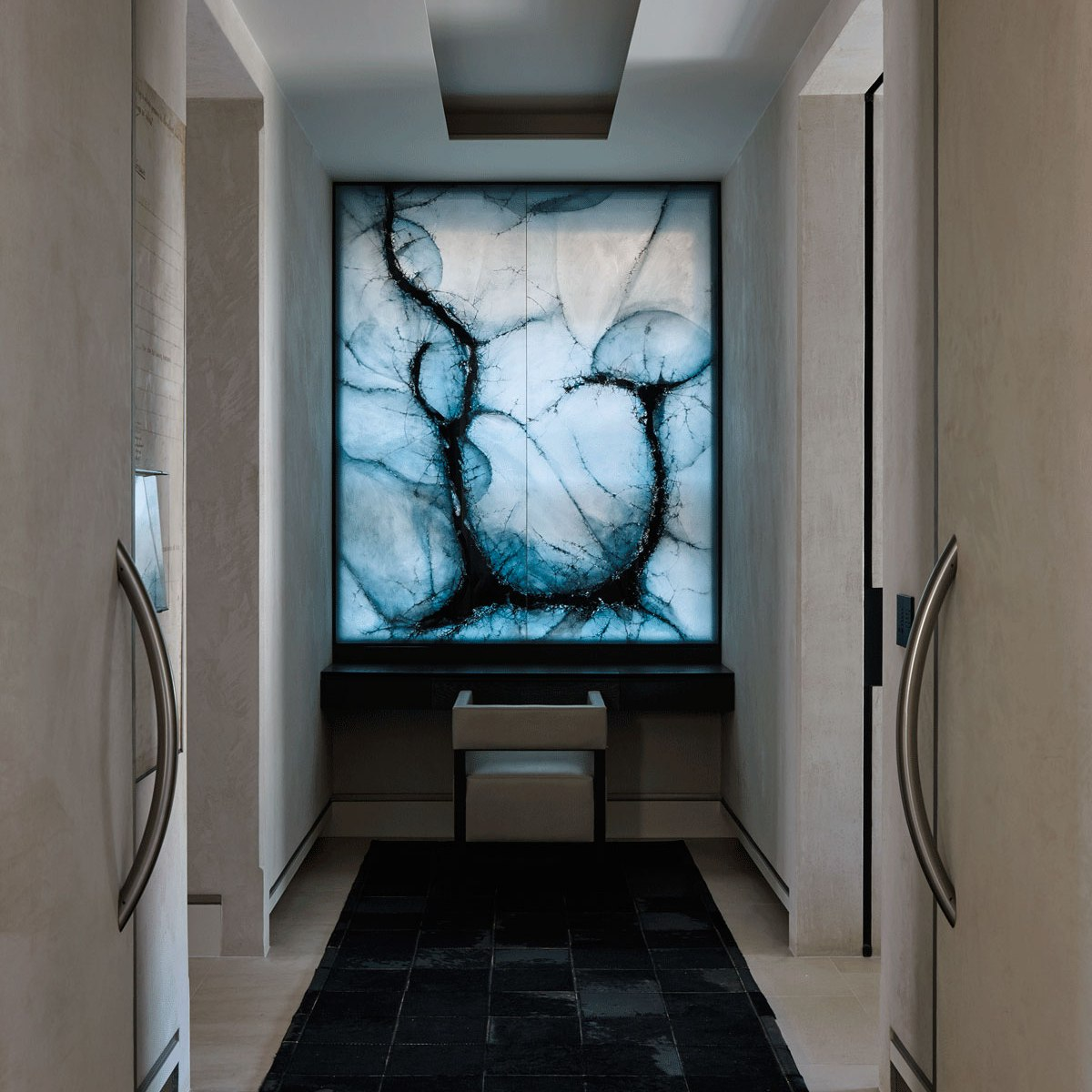 architectural design cyprus - laminated glass doors - chakra gallery - island designs