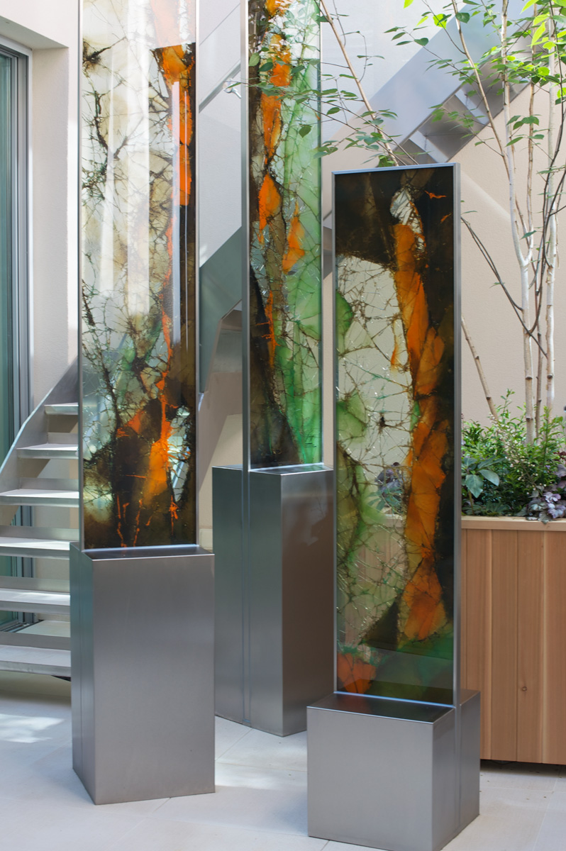 garden sculptures cyprus - glass sculptures - outdoors - island designs - chakra gallery cyprus gardens