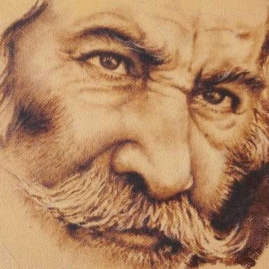 portrait -cyprus - paintings -sepia small paintins - art - island designs - chakra gallery